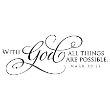 With God All Things Are Possible Vinyl Wall Decal Lettering Etsy