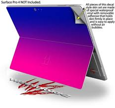 Surface Pro 4 Smooth Fades Hot Pink Blue Wraptorskinz