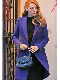 Blake Lively The Age of Adaline Bowman Blue Coat