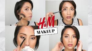 h m beauty makeup try on haul review