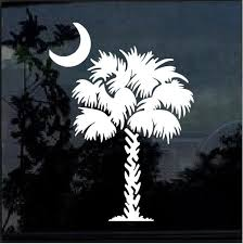 South Carolina Palmetto Tree Window Decal Sticker Custom Sticker Shop