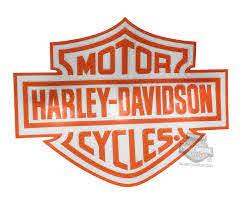 Cg46015 Harley Davidson Orange B S Logo Cutz Rear Window Graphic Decal Barnett Harley Davidson