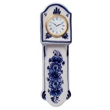 miniature wall clock 16 cm delft blue