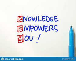 key knowledge empowers you motivational words quotes concept