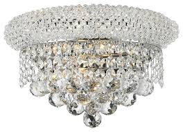clear crystal wall sconce light