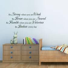 Be Strong When You Are Weak Wall Decal Inspired Quote Nursery Room Vinyl Decor For Sale Online
