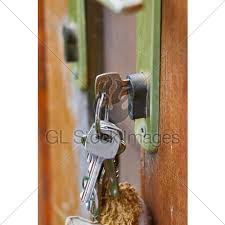 open garden gate with key gl stock images