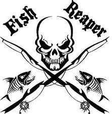 Fish Reaper Skull Fishing Decal Fishing Decals Fish Boat Decals