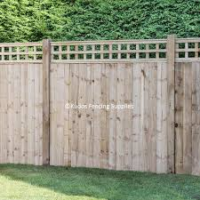 Trellis Top Closed Board Panels With Timber Posts Best Buy Uk Delivery