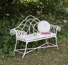 vintage style garden bench in cream or