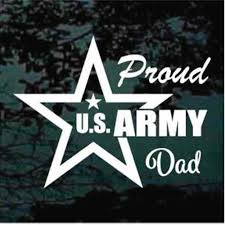 Proud Army Dad Car Window Decals Stickers Decal Junky