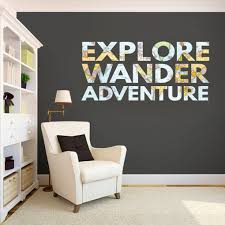 Shop Explore Wander Adventure Printed Map Words Wall Decal On Sale Overstock 10759877
