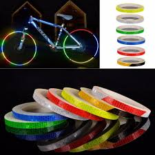 Bumper Stickers 2 Rolls Bicycle Reflective Sticker Cycling Security Wheel Decal Stripe Tape Car Motorcycle Cycling Bike Bicycle Bumper Stickers Auto Accessories