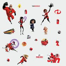 The Incredibles 2 Peel And Stick Wall Decals Kids Room Stickers Walmart Com Walmart Com