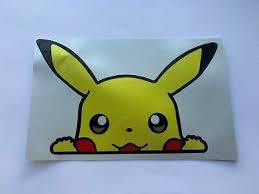 Peeking Pikachu Car Truck Jdm Window Vinyl Decal Sticker Love Dog Life Ebay