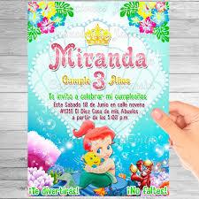 Invitacion Digital Sirenita Bebe 59 00 En Mercado Libre