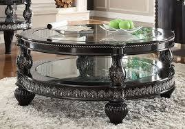 victorian glass top coffee table black