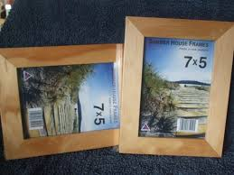 set of 2 wooden picture frames trade me