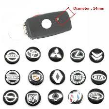 5pcs Lot 14mm 0 55 Car Key Fob Badge Stickers Radio Button Emblem Decals For Audi Bmw Chevrolet Ford Fiat Honda Hyundai Land Rover Mercedes Nissan Renault Opel Toyota Vw Volvo Etc Wish