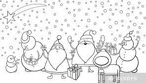 Sticker Kerst Karakters Kleurplaat Pixers We Leven Om Te