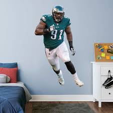 Philadelphia Eagles Fletcher Cox Fathead 3 Pack Life Size Removable Wall Decal