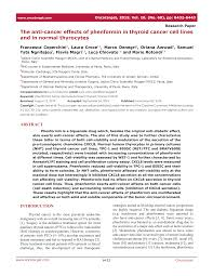 The anti-cancer effects of phenformin in thyroid cancer cell lines ...