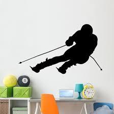 Extreme Sports Skier Wall Decal Wallmonkeys Com