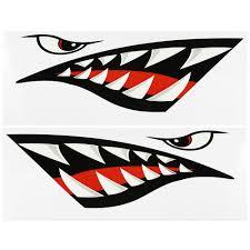 2pcs Fish Mouth Sticker Fishing Boat Canoe Car Truck Kayak Graphics Accessories Walmart Com Walmart Com