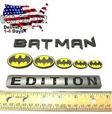 Batman Family Edition Emblem Plaque Nameplate Car Truck Logo Decal Bike Sign Ebay