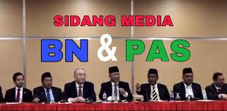 Image result for sidang media Annuar Musa dan Takiyuddin Hassan