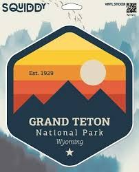 Decals Stickers Outdoors Vinyl Graphic Laptop Car Sticker Grand Teton National Park Decal Emojiplay Vn
