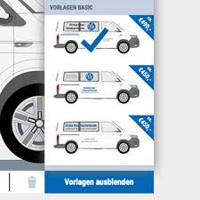 Design Your Vehicle Decals Yourself Quickly And Simply Mysortimo Com Van Racking Vehicle Decals Mobile Work Bench
