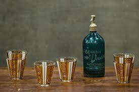 vintage georges briard cocktail glasses