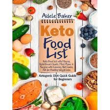 Keto Food List - By Adele Baker (Paperback) : Target