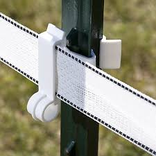 White T Post Polytape Electric Fence Insulators Zareba