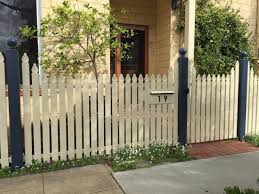Federation Staggered Picket Gate Letterbox Fence Spot