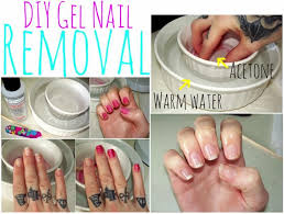 how to soak off your gel nails w