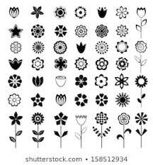 flower clipart black white images