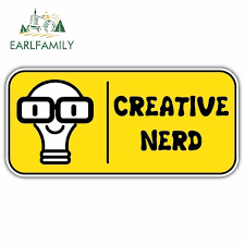 Earlfamily 13cm X 7 4cm For Creative Nerd Car Stickers Cartoon Vinyl Jdm Bumper Trunk Truck Graphics Rv 3d Diy Fine Decal Car Stickers Aliexpress