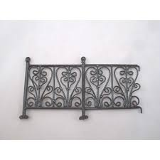 Wrought Iron Fence Bl 6pc Dollhouse Fencing Retaining Walls Superior Dollhouse Miniatures