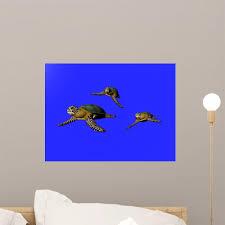3d Great Sea Turtle Wall Decal Design 1 Wallmonkeys Com