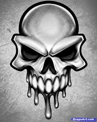 free cool skull drawing free