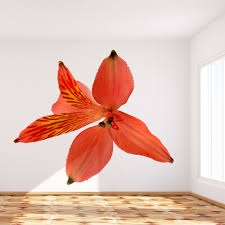 Shop Full Color Lily Flower Full Color Wall Decal Sticker Sticker Decal Size 33x33 Frst On Sale Overstock 15009813