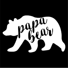 Amazon Com Papa Bear Vinyl Decal Sticker Cars Trucks Vans Suvs Windows Walls Cups Laptops White 5 5 Inch Kcd2399 Automotive