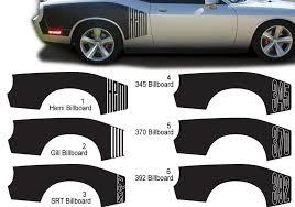 Product Challenger Billboard Vinyl Graphic Decals Dodge Challenger Hemi 345 370 392 Str 2009 2015