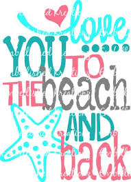 Beach Love You To The Beach And Back With Heart Dots Starfish Vinyl Decal Car Decal Window Decal Wall Decal Tumbler Decal Car Decals Vinyl Vinyl Shirts Tumbler Decal