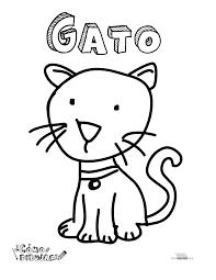 Gato Para Colorear Y Para Imprimir