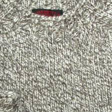 shetland wool sweater light natural