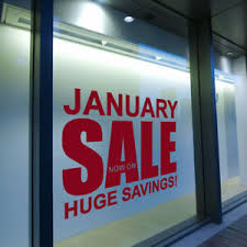 January Sale Sign Vinyl Shop Retail Store Window Display Wall Decal Sticker A298 Ebay