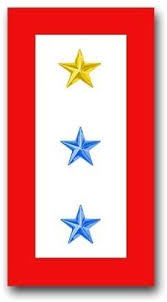 Amazon Com Militarydecals23 United States Army One Gold Star And Two Blue Stars Service Flag Decal Sticker 3 8 Automotive